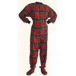 Schlafoverall (Flanell) RED AND BLACK mit Po-Klappe