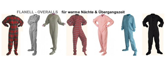 FLANELL-Schlafoveralls